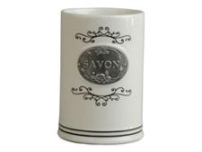 Form Living Tandborstmugg Lantlig Keramik 7.6x7.6x11cm Vit