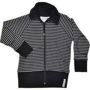 Zipsweater Classic, Randig, Svart/vit, Strl 86-92, Geggamoja