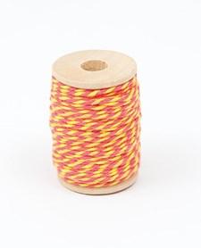 Bindtråd 2 mm x 15 m Gul/Cerise