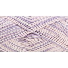 Rico, Baby Cotton Soft Print DK, Garn, Bomullsmiks, 50 g, Lilac-White 003