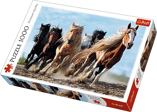 Galloping horses, Puslespill, 1000 brikker, Trefl