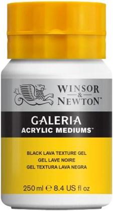 Winsor & Newton Medier Galeria Black Lava Texture geeli 250 ml