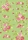 Bomullstyg Blommor 50x160 cm