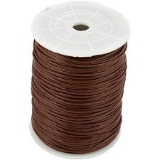 Bomullssnøre, tykkelse 2 mm, 100 m, brun