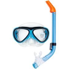 Dykglasögon med Snorkel Blå Set