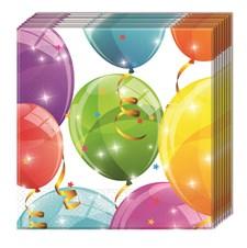 Glittrande Ballonger Servetter, 20 st
