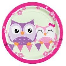 Happy Owl, Tallerkener, 8 stk.