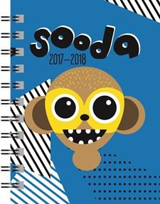 Kalenteri 2017-2018 Sooda 17/18 sininen 105x148 mm