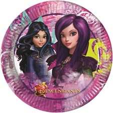 Disney Descendants, Papptallerkener, 23 cm, 8 stk.