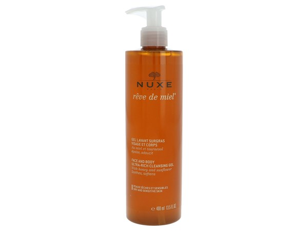 Nuxe Reve De Miel Face And Body Cleansing Gel 400ml