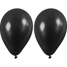 Ilmapallot, musta, halk. 23 cm, 10kpl