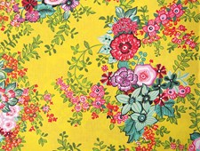 Kangas, Flower Power vihreä 50 x 160 cm