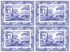 Spode Blue Italian Tabletter 4-pack