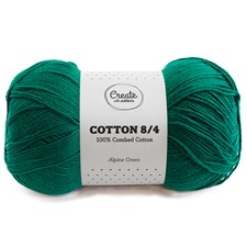 Adlibris Cotton 8/4 lanka 100g Alpine Green A177