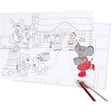 Joulukalenteri, koko 30x42 cm, 5 kpl