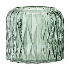 Bloomingville Lysholder Glass Diameter 13 cm, Høyde 11,5 cm Grønn