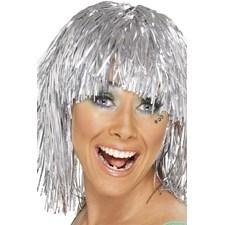 Glitterperuk Silver