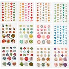 Stickers, dia. 6-13 mm, 12 paket