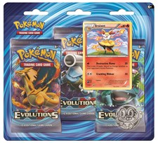 Poke Blister 3-pack, XY12 Evolutions, Braixen, Pokémon