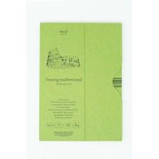 Akryl och oljeblock A4, 20 blad, 290 gsm naturligt vitt papper med struktur.