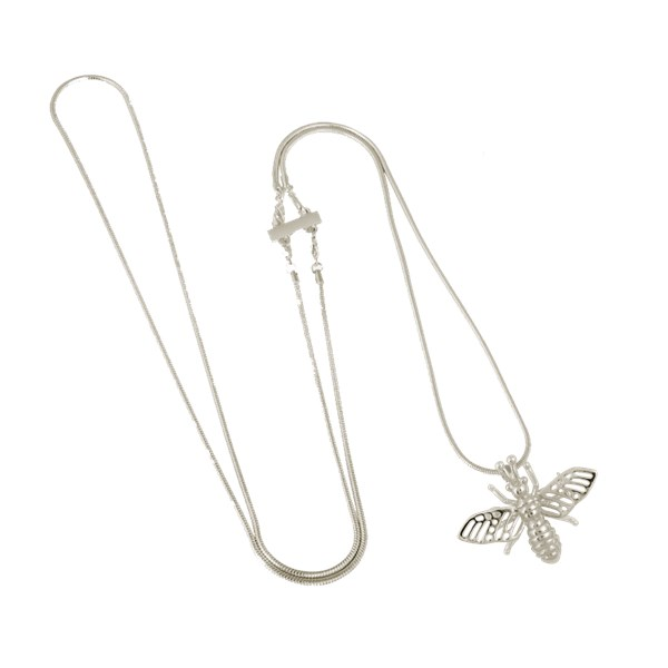 Ioaku Insect Mini Necklace Alloy Silver