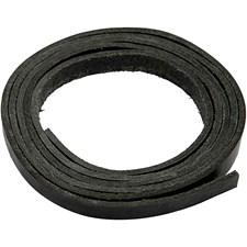 Nahkanauha, lev. 10 mm, paksuus 3 mm, 2 m, musta