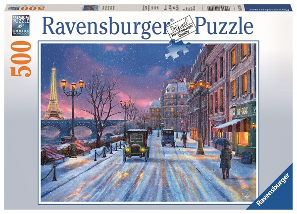 Julpussel 500 bitar, Winter in Paris, Ravensburger