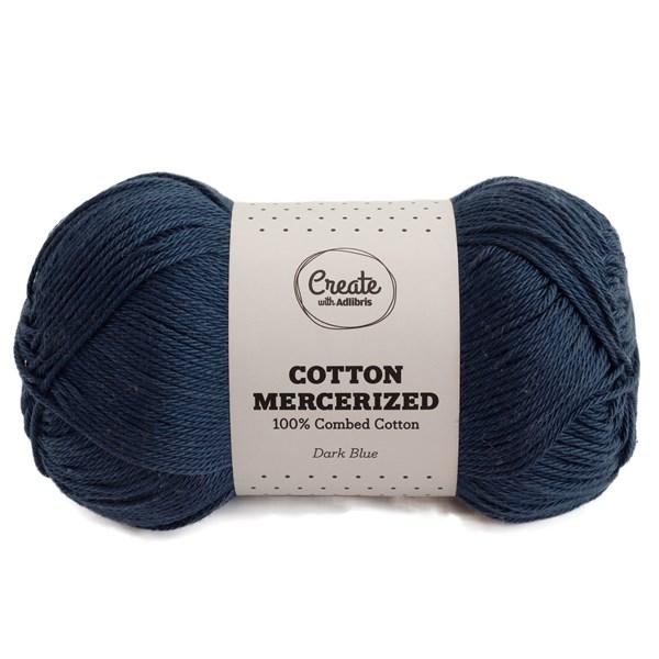 Adlibris Cotton Mercerized 100g Dark Blue A314
