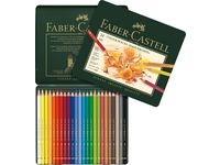 Värikynät Polychromos Faber-Castell peltirasiassa 24 kpl