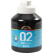 A-Color readymix-maali, 500 ml, musta