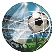 Fotboll Papptallrikar, 8 st