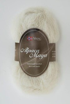 Viking of Norway Alpaca Maya 50 gr Naturhvit 702