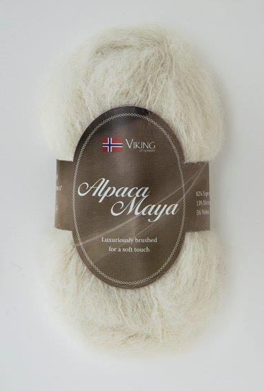 Viking of Norway Alpaca Maya 50 gr luonnonvalkoinen