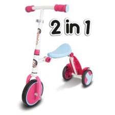Trike scooter 2-in-1, Roller R1, Blå/Rosa
