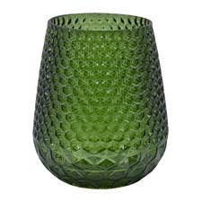Holmen Carma Vas H: 14 cm Glas Grön