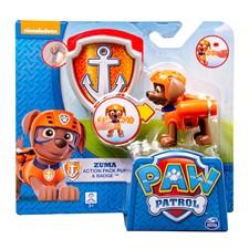 Paw Patrol, Actionfigur med bricka, Zuma