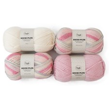 Color Pack Adlibris Socki Plus 100g Vintage Pink 4-pack