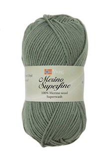 Viking of Norway Merino Superfine Garn Merinoull 50g Mossgrön 635