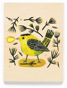 Green bird -onnittelukortti
