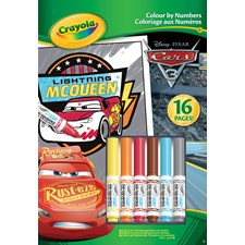 CRAYOLA COLOUR BY NO CARS 3
