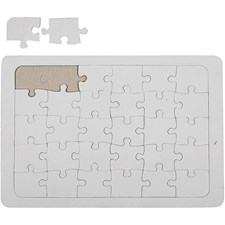Palapeli, A4 21x30 cm, valkoinen, 1kpl