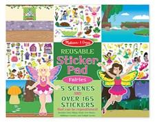 5 Miljöer- Fairies, Sticker Set, Melissa & Doug