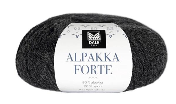 Dale Garn Alpakka Forte Garn 50 g Gråsvart melert 710