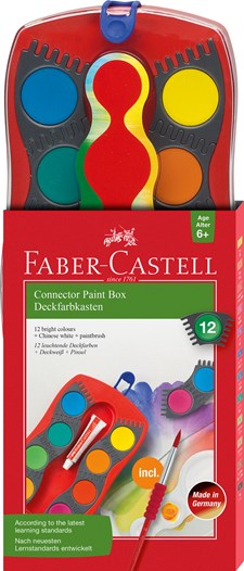 Faber-Castell Connector Malerskrin Plastetui 24 farger