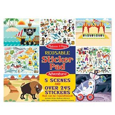 Adventure, Reusable Sticker Set, Melissa & Doug