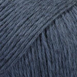 Bomull- Lin Drops design Garn 50 g mørk blå 21