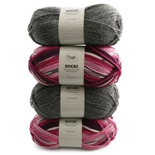 Color Pack Adlibris Socki Garn 100g 4-pack