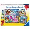 Havfruer Puslespill 3x49 brikker Ravensburger