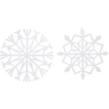 Lumihiutaleet, halk. 14 cm, 100 g, 16 laj., valkoinen