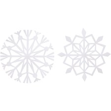 Lumihiutaleet, halk. 14 cm,  100 g, valkoinen, 16kpl